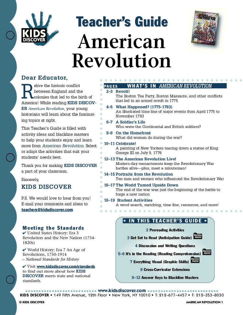 American Revolution Worksheets : American revolution worksheets facts for kids autos post