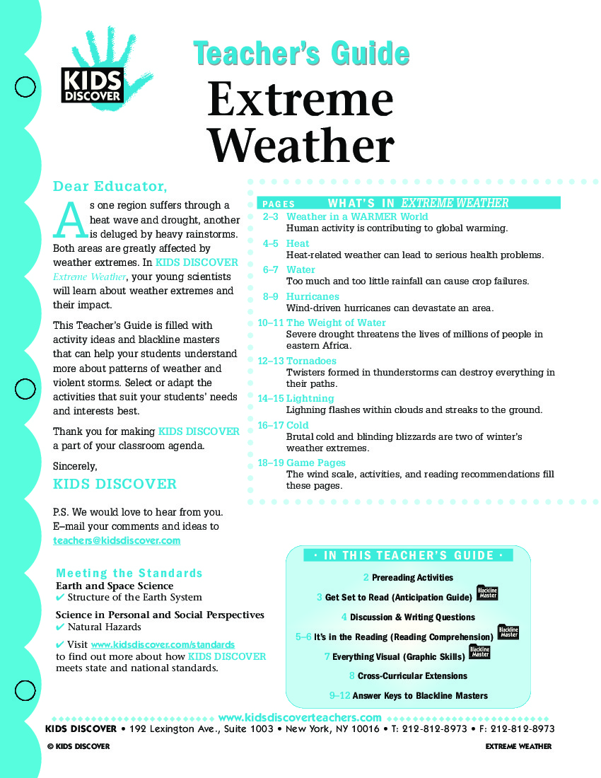 Free Worksheets extreme weather for kids worksheets : Extreme Weather - Kids Discover