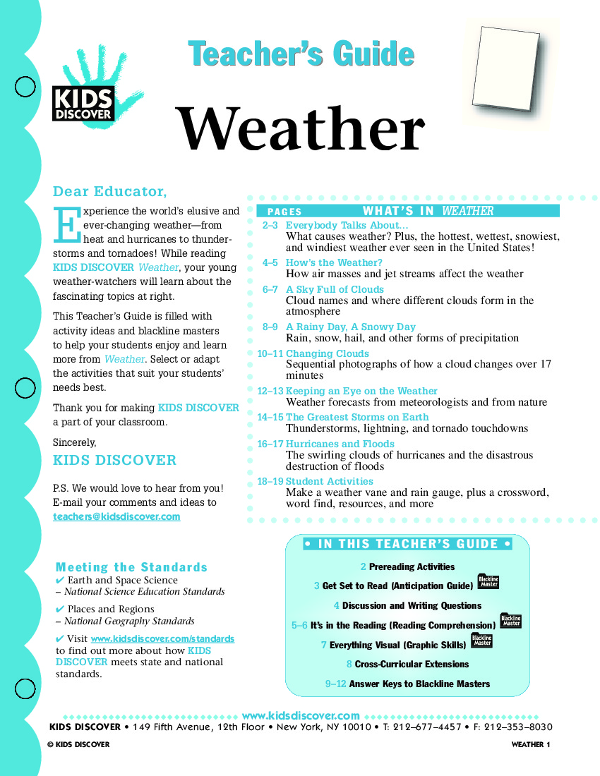 lesson plans for teaching weather