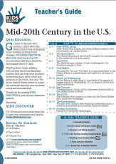 This Teacher's Guide on Kids Discover Mid-20th Century in the US is filled with activity ideas and blackline masters that can help your students understand more about what was going on in the 1950s, '60s, and '70s in the United States. Select or adapt the activities that suit your students' needs and interests best.