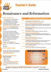 This Teacher's Guide on Renaissance and Reformation is filled with activity ideas and blackline masters that can help your students understand more about the Renaissance and the Reformation. Select or adapt the activities that suit your students' needs and interests best.